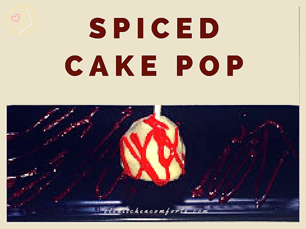 spiced cake pop