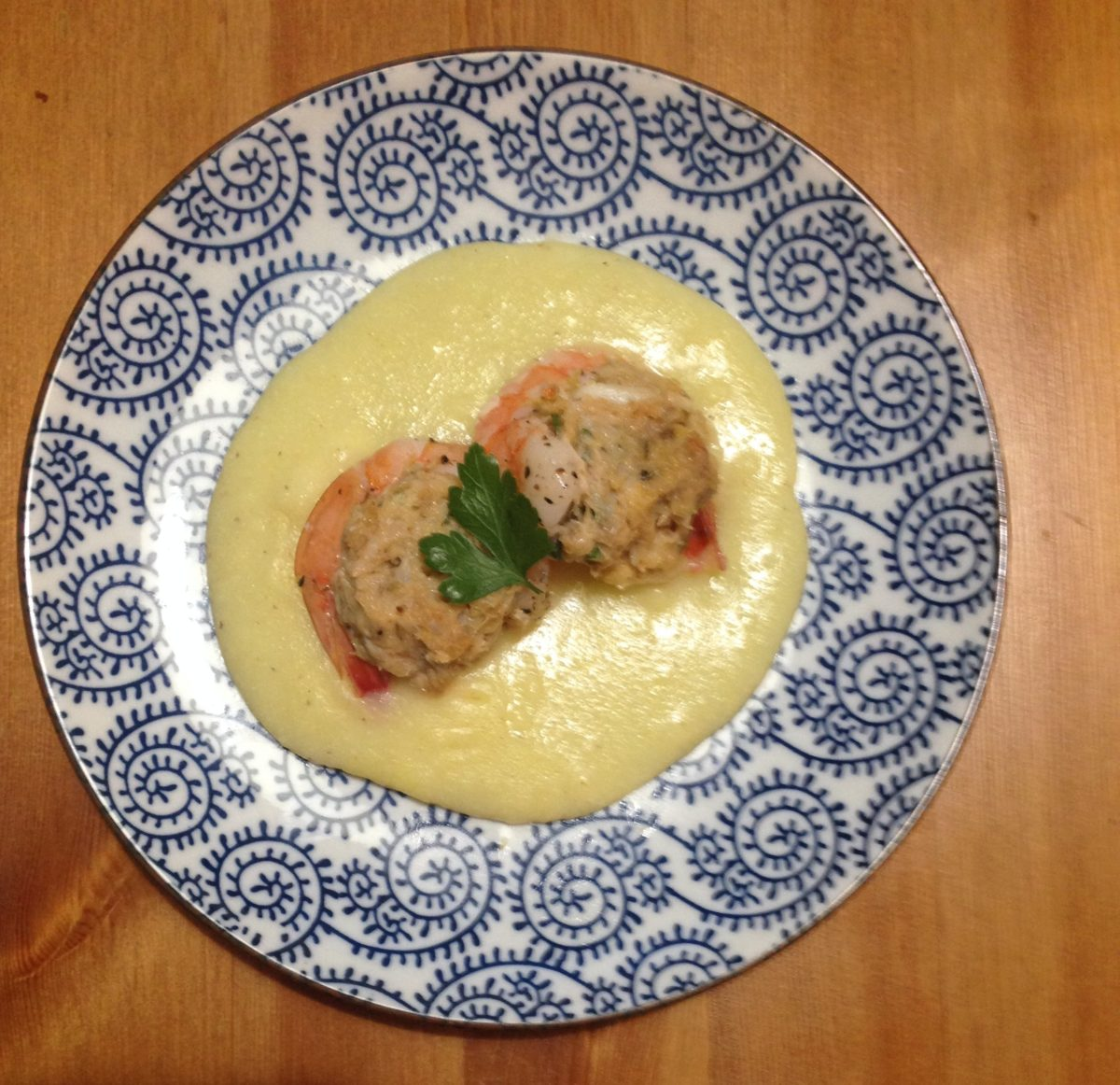 Crab Stuffed Shrimp with Beurre Blanc