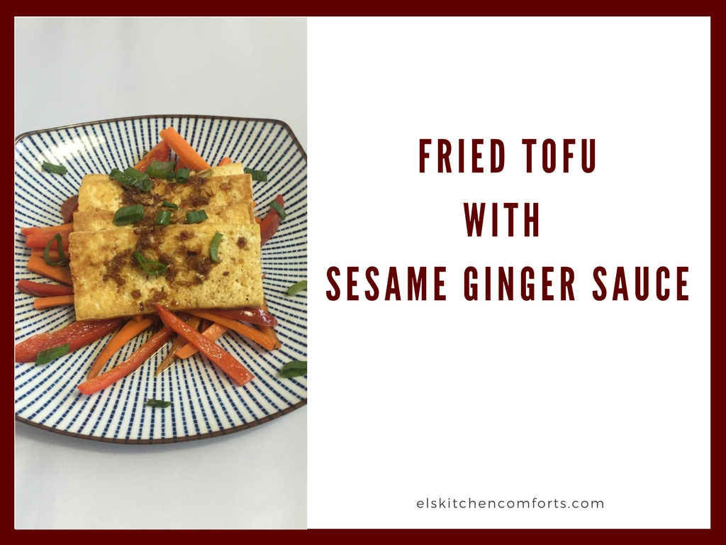 Fried tofu w/ sesame ginger sauce