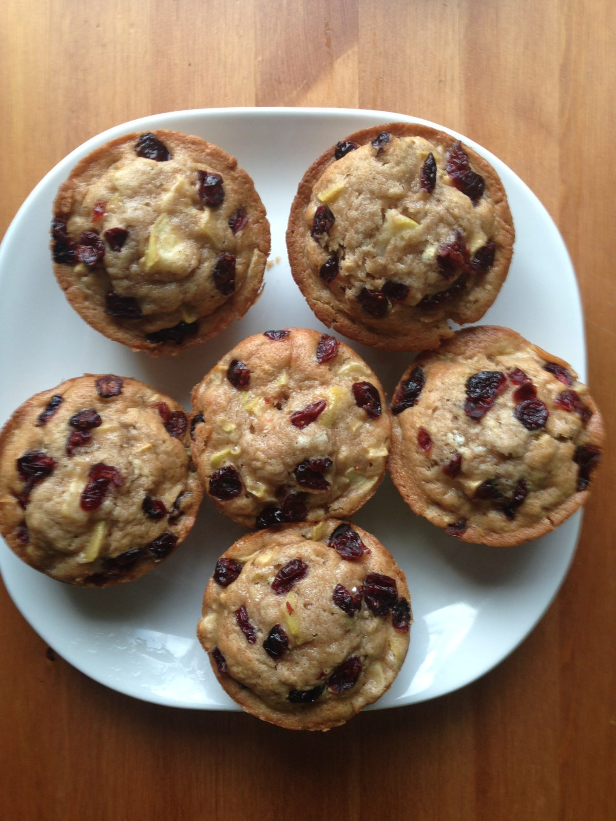 Cranberry Topped Apple Cinnamon Muffins