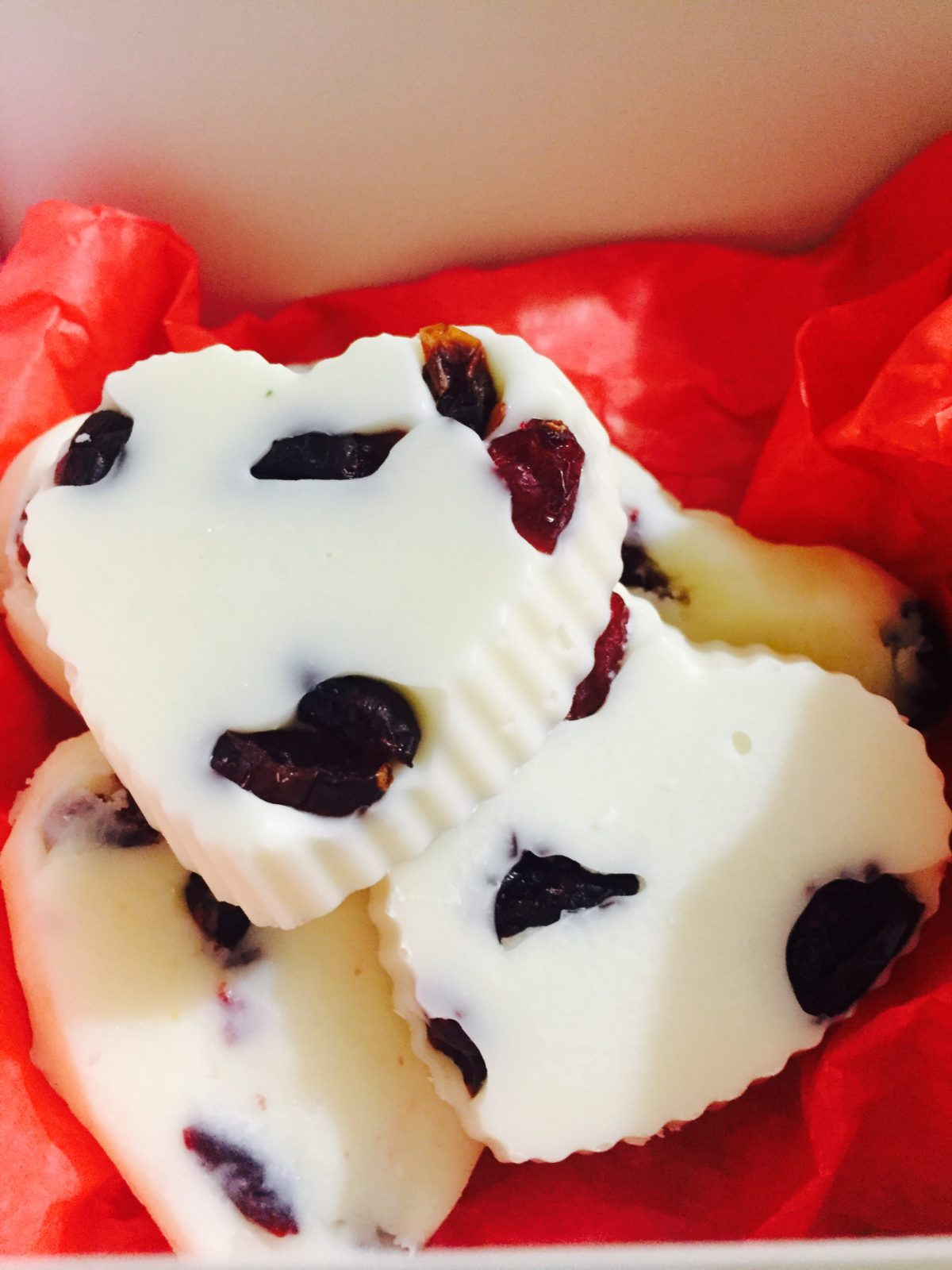 White Chocolate Cranberry Hearts