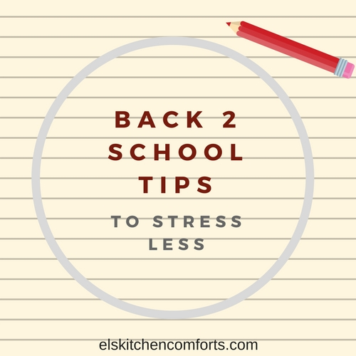 Back 2 School Tips to Stress Less