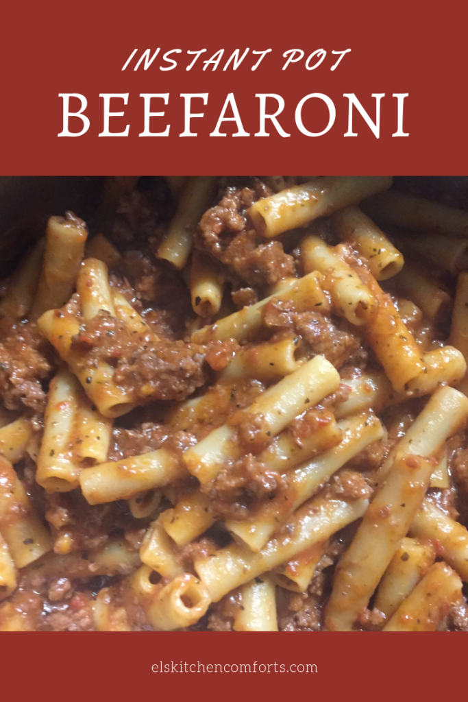 Delicious Instant Pot beefaroni recipe is a healthier version of what I ate as a kid. It's a little reminder of childhood you can share with the family.