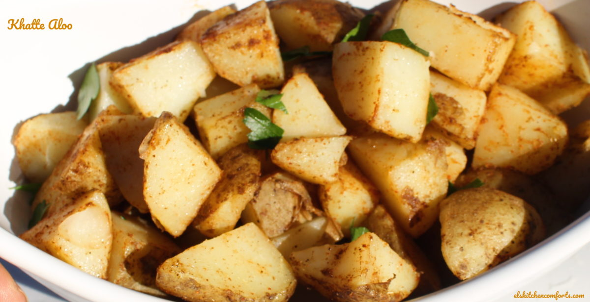 Khatte Aloo Indian Spiced Potatoes