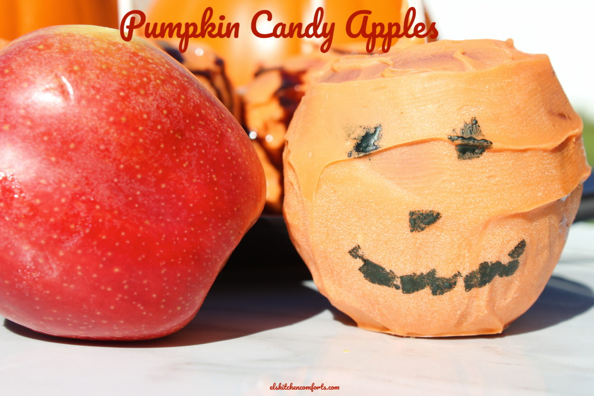 Halloween Pumpkin Candy Apples