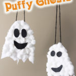 Puffy Ghosts Halloween Craft from Thriving Home