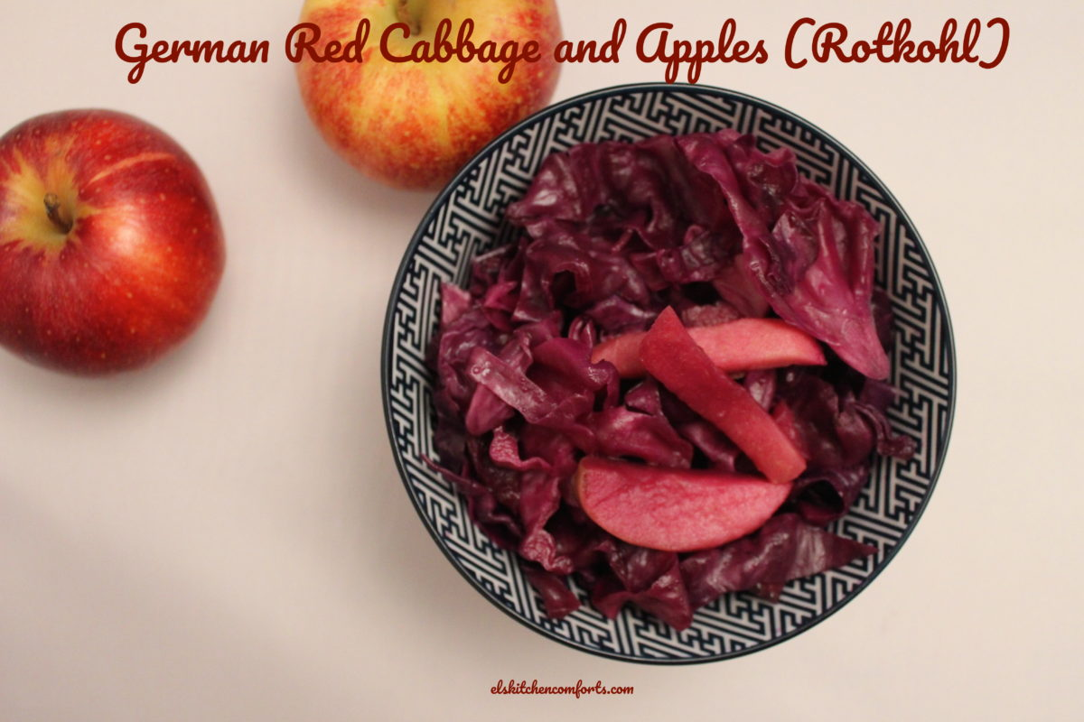 German Red Cabbage and Apples (Rotkohl)