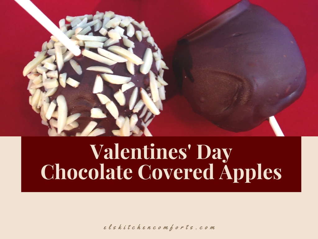 Valentines' Day Chocolate Covered Apples