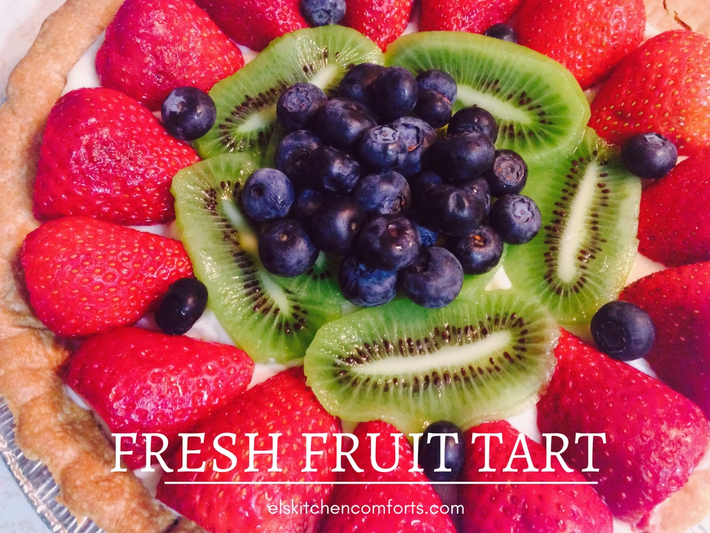 Easy fresh fruit tart with cream cheese filling