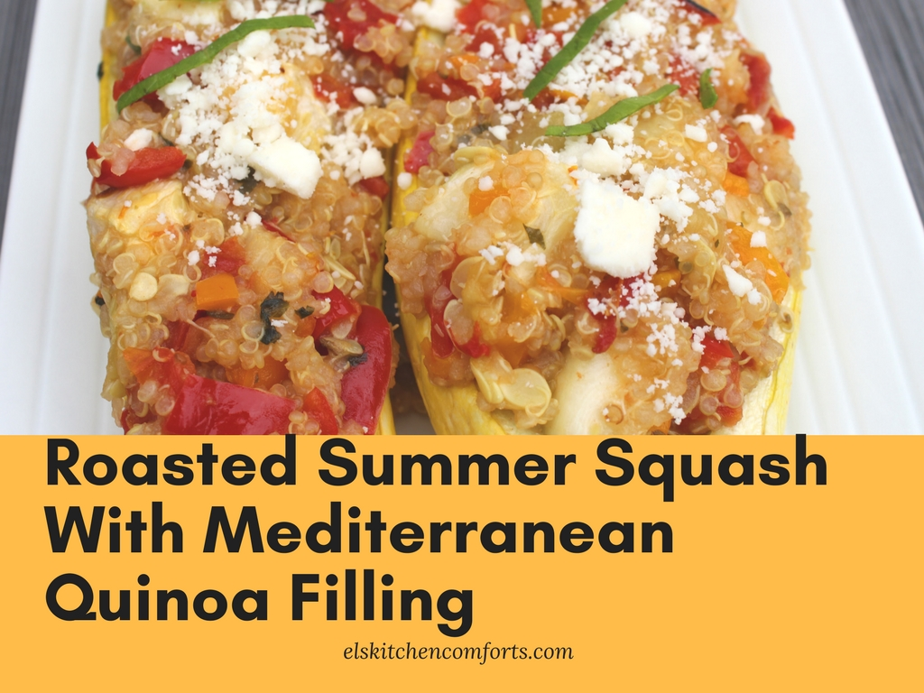 Roasted Summer Squash with Med Quinoa Filling