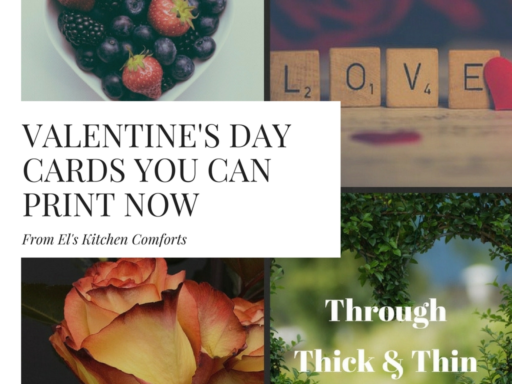 Valentine's Day Cards You Can Print Now