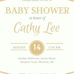 Baby Shower Gold Elegant