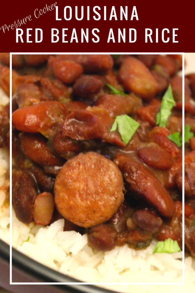 Pressure Cooker Louisiana Red Beans and Rice