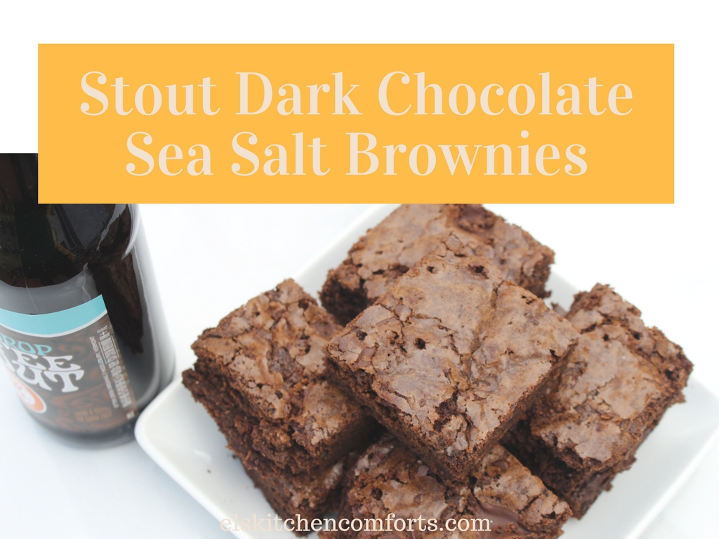 stout dark chocolate sea salt brownies