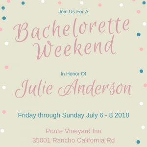 Bachelorette Weekend Invitation