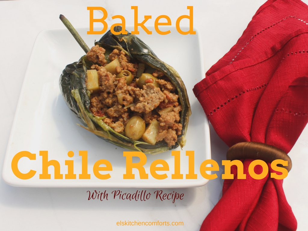 Baked Rellenos with Picadillo Recipe