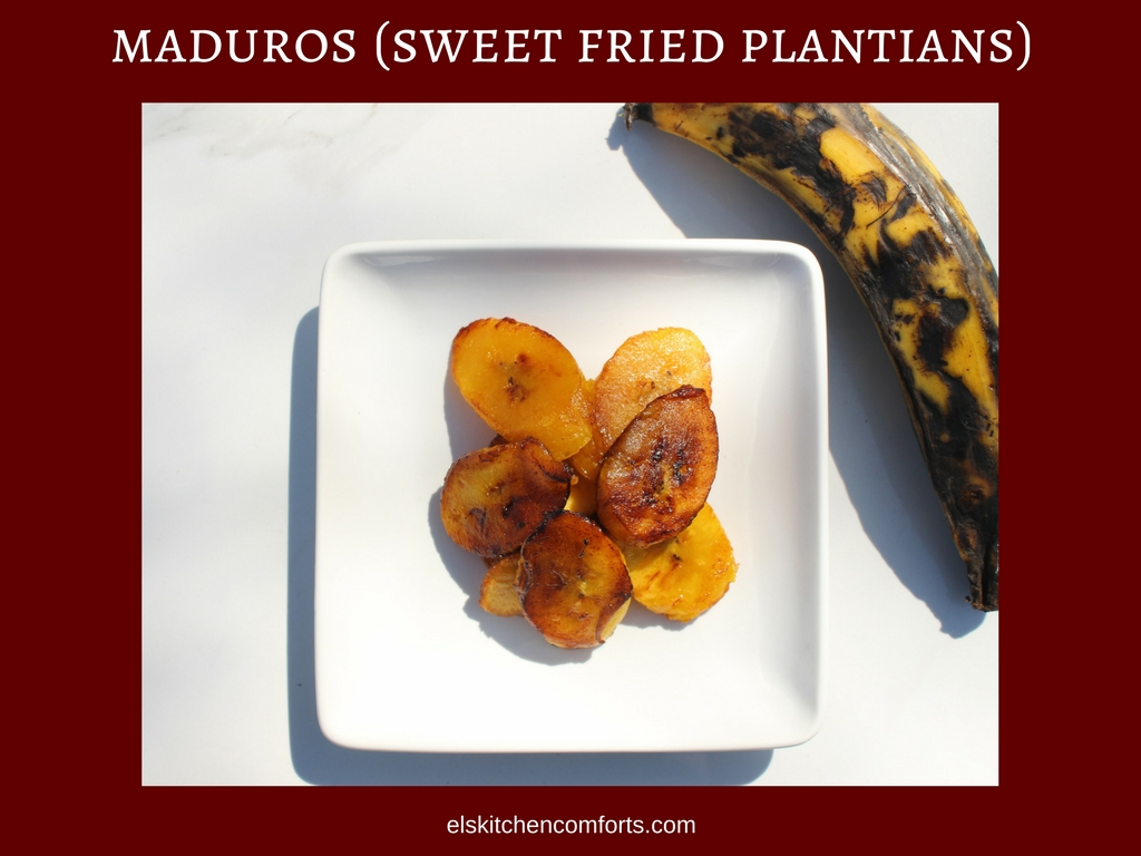 maduros (sweet fried plantains)