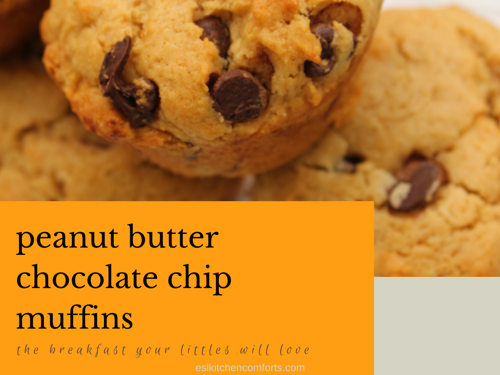peanut butter chocolate chip muffins the breakfast your littles will love