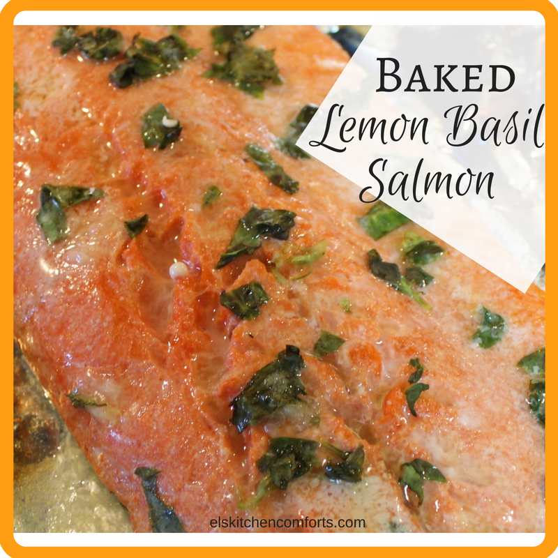 Baked Lemon Basil Salmon