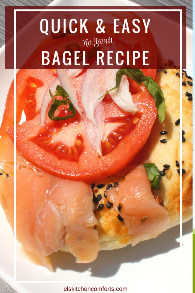 Quick and Easy No Yeast Bagel Recipe You can make at Home