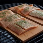 lemon basil salmon recipe on the grill