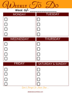 Free Printable Planning Templates
