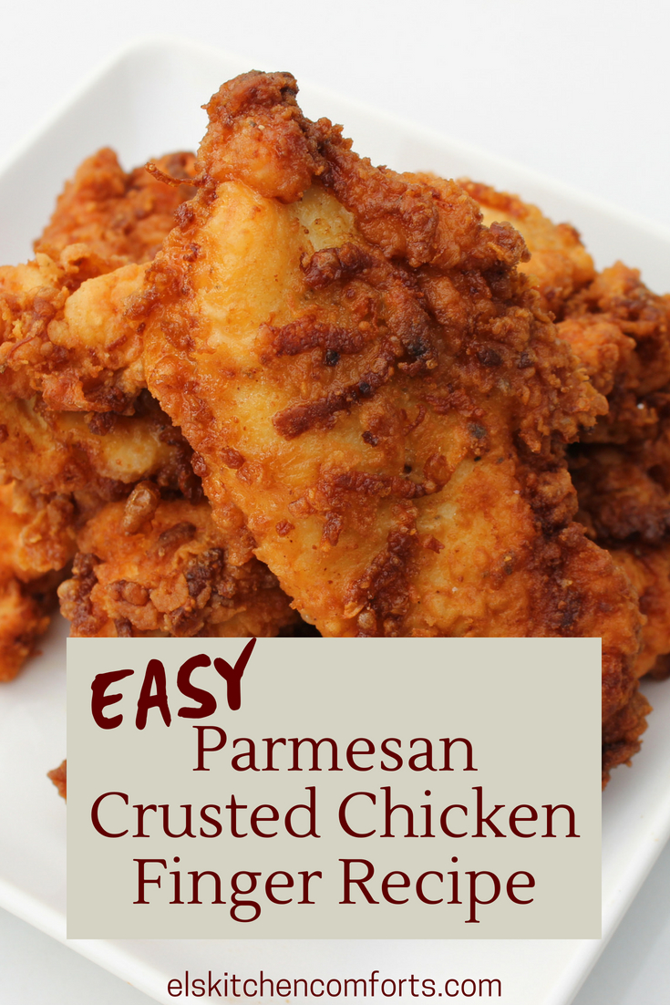 Easy Parmesan Crusted Chicken Finger Recipe