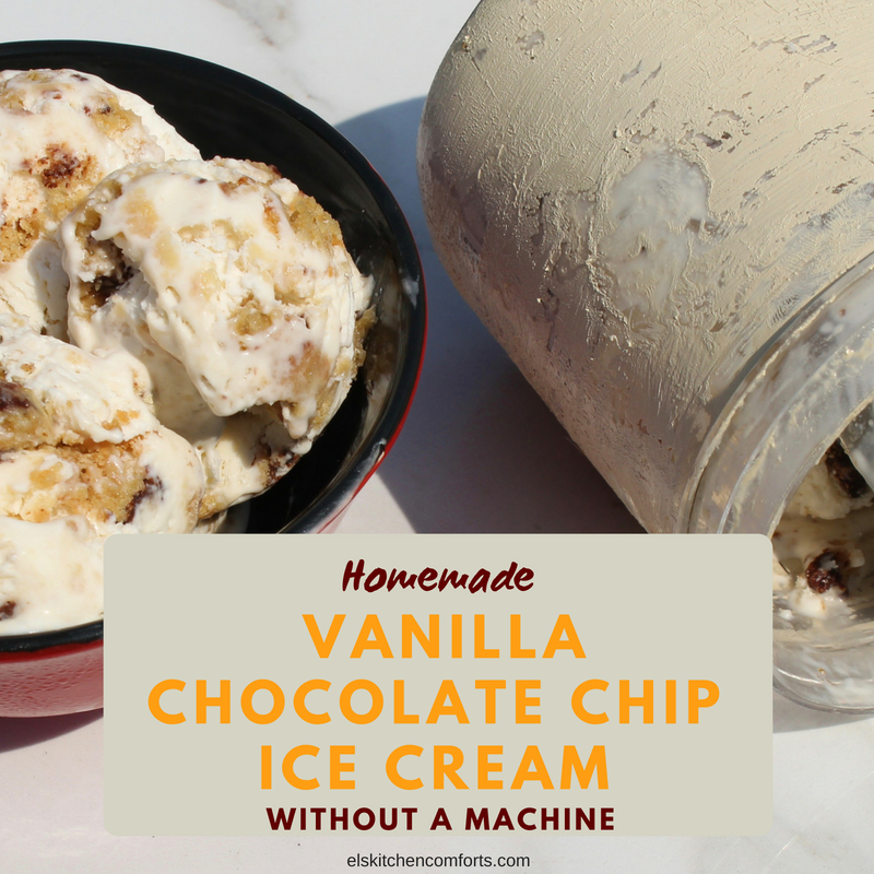 Homemade Vanilla Chocolate Chip Ice Cream Without A Machine