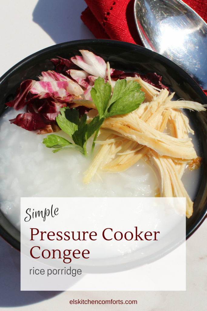 Simple Pressure Cooker Congee (rice porridge)