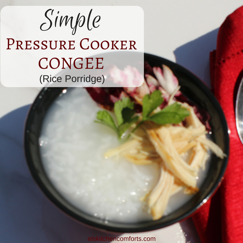How to make plain congee in instant pot