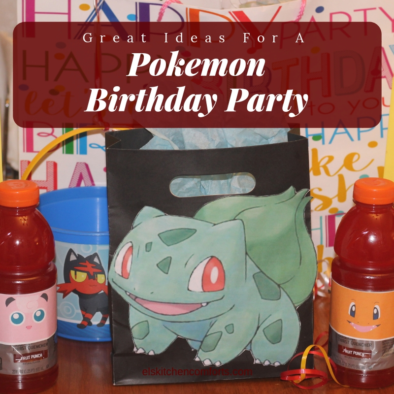 Great ideas for a Pokemon themed birthday party