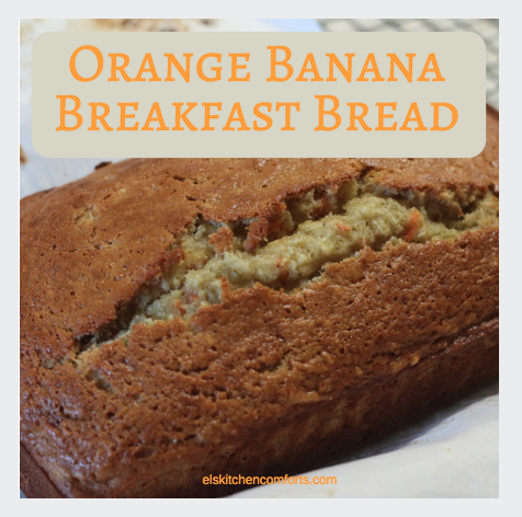 Orange banana breakfast bread