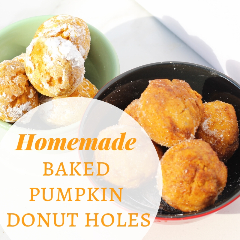Homemade Baked Pumpkin Donut Holes