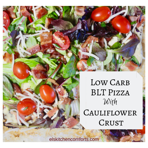 Low Carb BLT Pizza with Cauliflower Crust