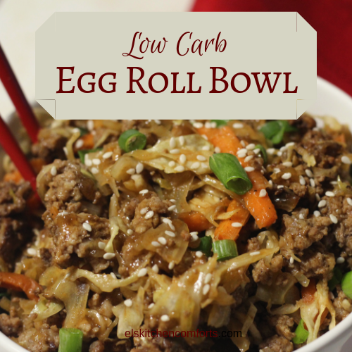 low carb egg roll bowl