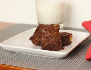 A delicious fudgy gluten free almond flour brownie with a peanut butter swirl the family will love.
