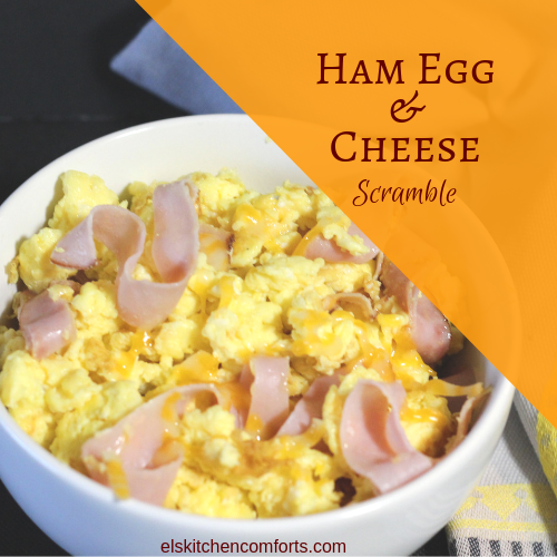 Ham Egg Cheese Scramble