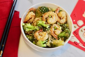 Shrimp in Broccoli in Garlic Sauce