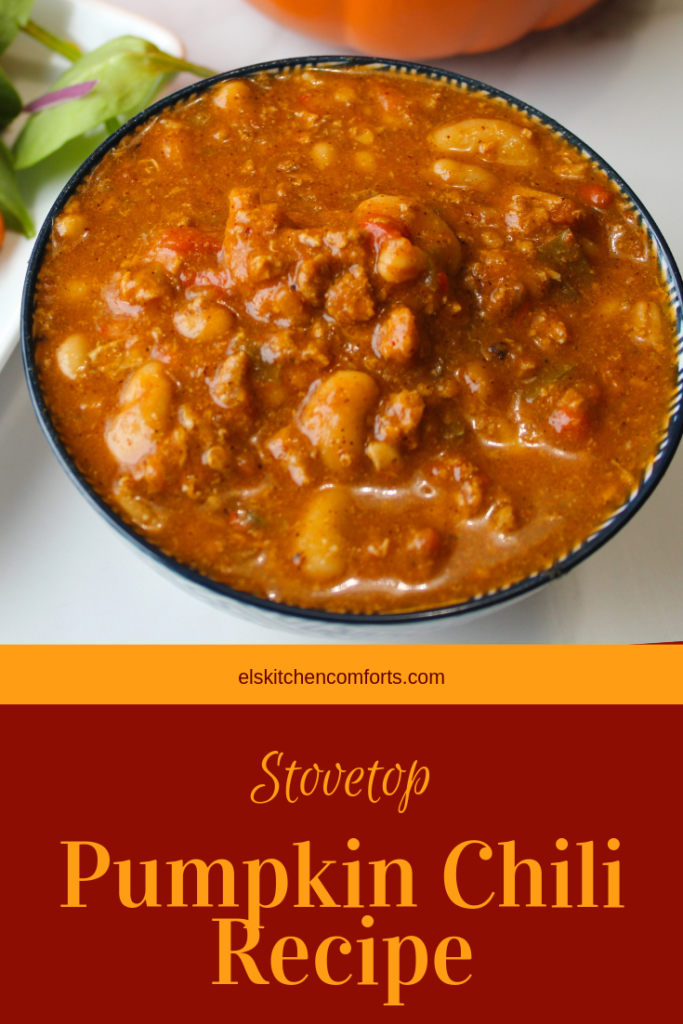 Stovetop Pumpkin Chili recipe is to packs a big nutritional punch. It's flavorful and has tons of vitamin A and fiber. It's the perfect healthy comfort food.