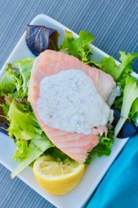 Slow Baked Salmon with Lemon Dill Aioli that's fall apart smooth in your mouth and spark for your taste buds.