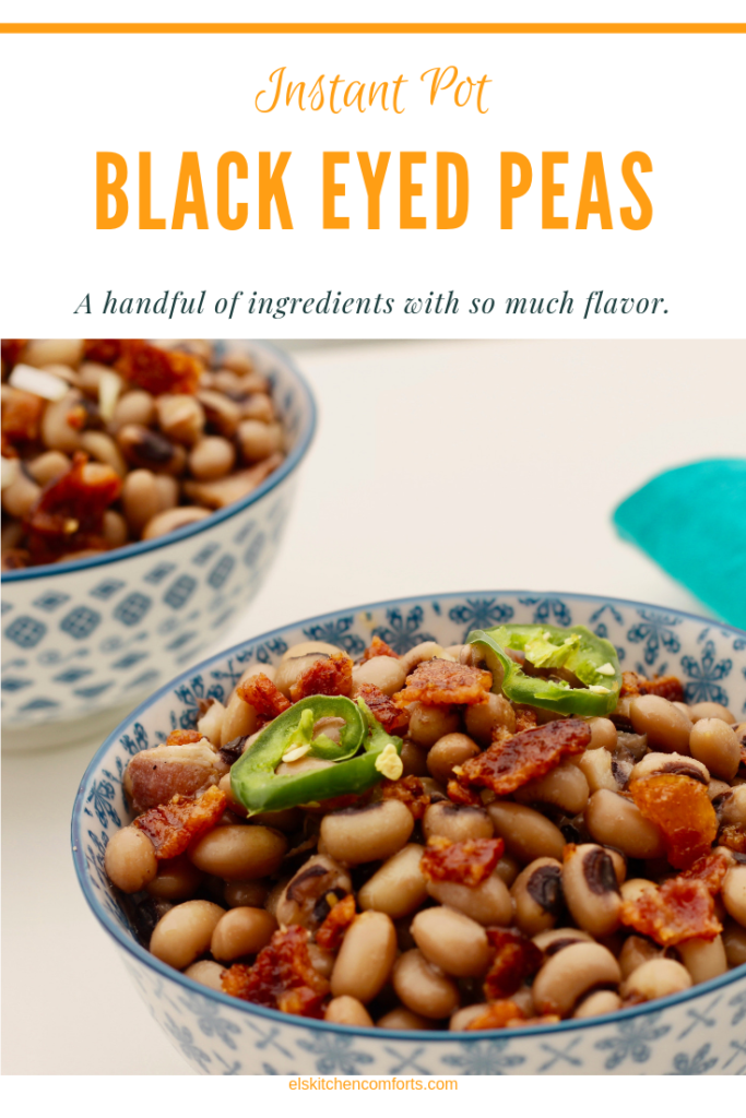 Delicious Instant Pot Black Eyed Peas (Dried Beans) from the pressure cooker. Easy and flavorful with just a handful of ingredients.