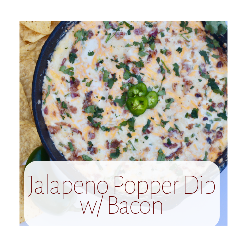 Baked Jalapeno Popper Dip with Bacon