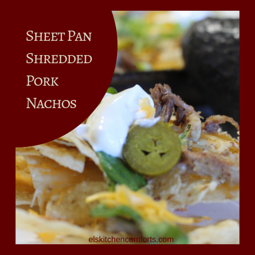 Sheet Pan Shredded Pork Nachos