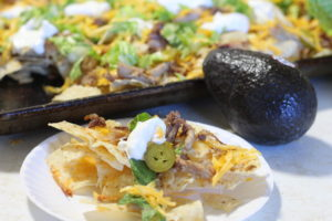 Leftover makeover to the rescue with these delicious Sheet Pan Shredded Pork Nachos