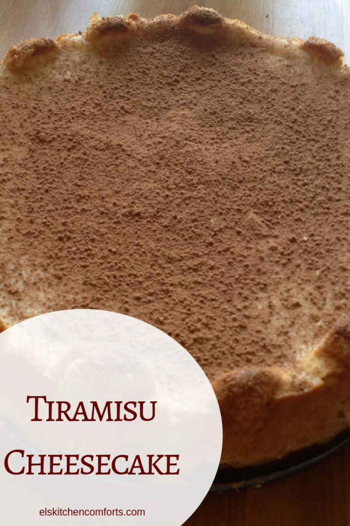 This tiramisu cheesecake has the perfect balance of sweet. With the richness of the cheesecake, the sweetness of the marscarpone and a kick of espresso.