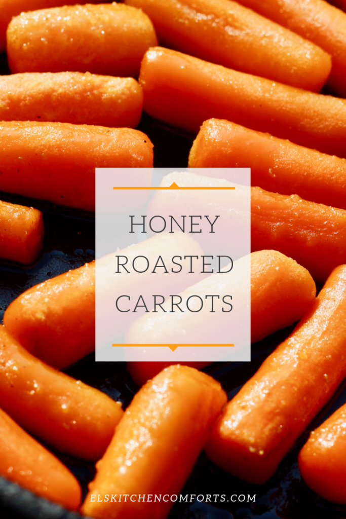 Honey roasted carrots tossed in butter, honey and coriander and sprinkled with sea salt simple makes for an easy and delicious side dish.