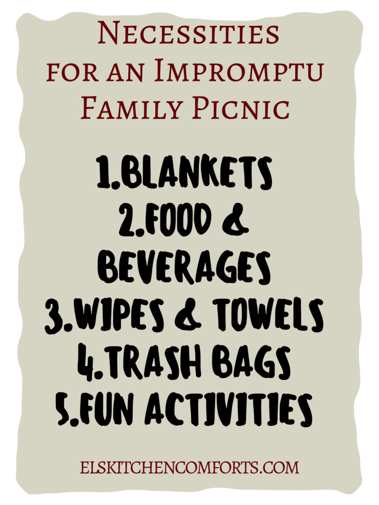It's time to have more fun, so here are the 5 Things You Need for an Impromptu Family Picnic Today.