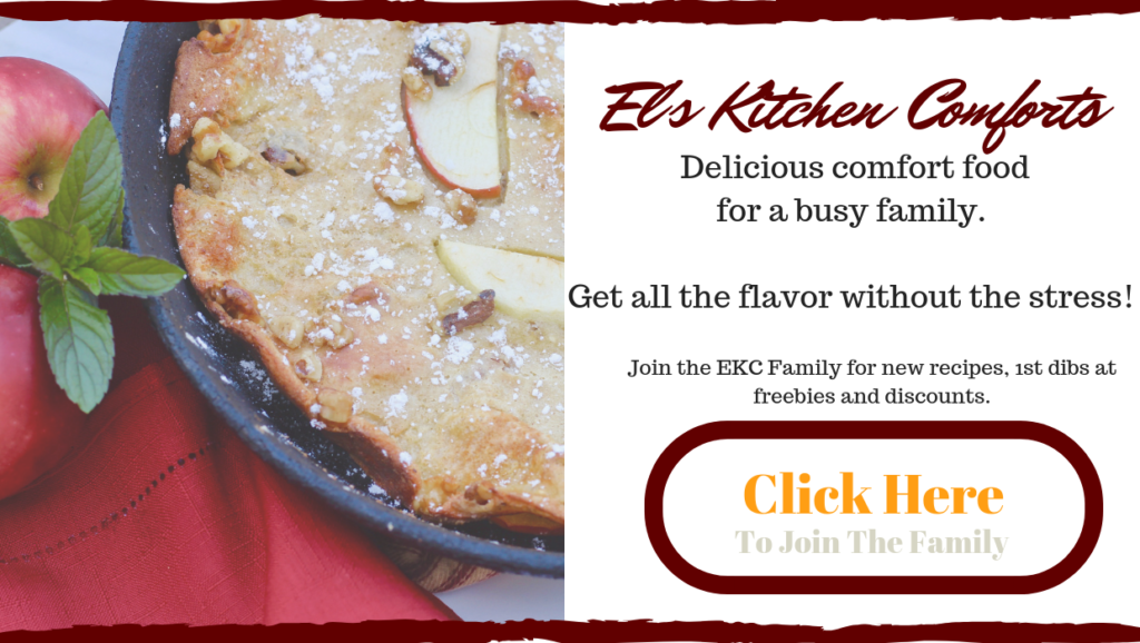 Subscribe to the El's Kitchen Comforts newsletter