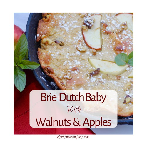 Brie Dutch Baby with walnuts and apples