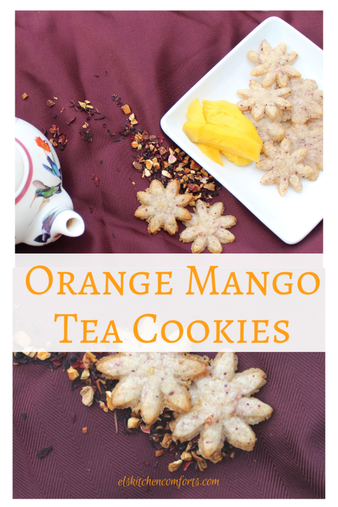 These Orange Mango Tea Cookies are delicate, sweet and so easy to make. Perfect for a special occasion.